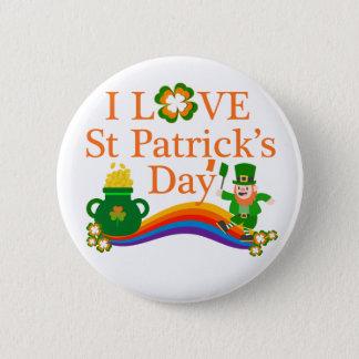 Badge Rond 5 Cm J'aime le jour de St Patrick