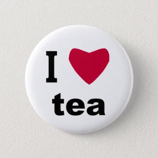Badge Rond 5 Cm J'aime le thé