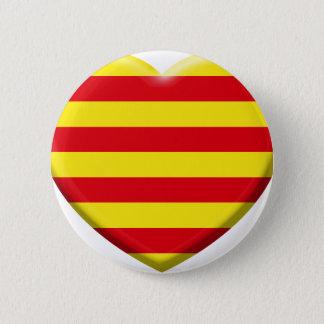 Badge Rond 5 Cm J'aime les Catalans