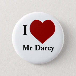 Badge Rond 5 Cm J'aime M. Darcy