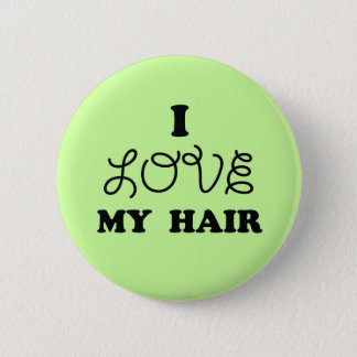 Badge Rond 5 Cm J'aime mes cheveux