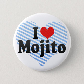 Badge Rond 5 Cm J'aime Mojito