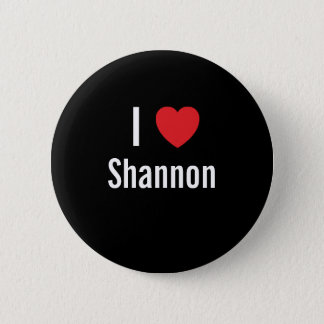Badge Rond 5 Cm J'aime Shannon