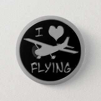 Badge Rond 5 Cm J'aime voler