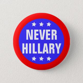 Badge Rond 5 Cm JAMAIS HILLARY pour le président 2016