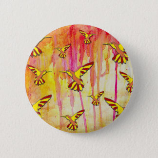 BADGE ROND 5 CM JAUNE ET ROUGE FAIT L'ORANGE