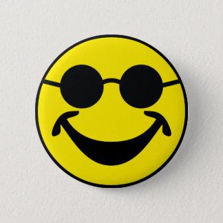 Badge Rond 5 Cm Jaune souriant sans visibilité + votre backg. et