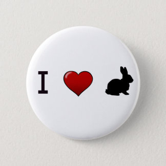 """Badge Rond 5 Cm """"Je Pin aime lapins"""""""