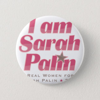 Badge Rond 5 Cm Je suis Sarah Palin
