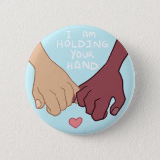 Badge Rond 5 Cm Je tiens votre main par @Pix3lradio