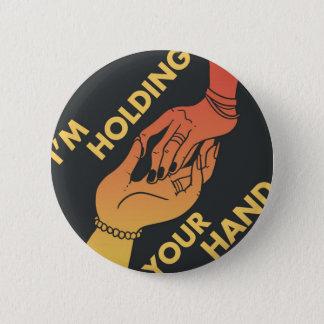 Badge Rond 5 Cm Je tiens votre main (v.2) par le @Shibert !