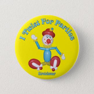 Badge Rond 5 Cm Je tords pour le ballon de clown de bouton de