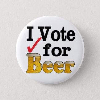 Badge Rond 5 Cm Je vote pour la bière