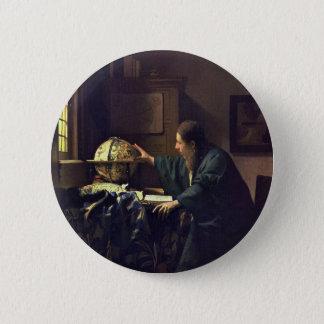 Badge Rond 5 Cm Johannes Vermeer - la peinture d'astronome