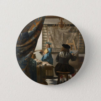 Badge Rond 5 Cm Johannes Vermeer - l'art de la peinture