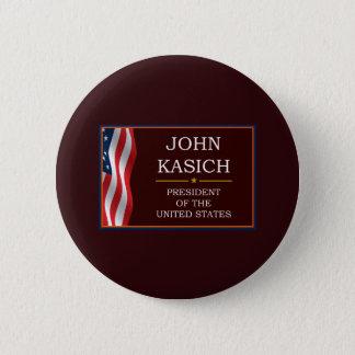 Badge Rond 5 Cm John Kasich pour le Président V3