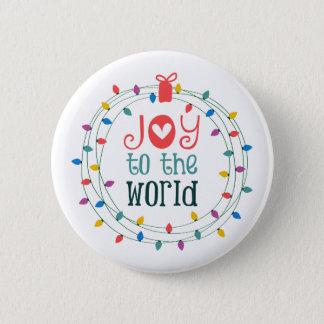 Badge Rond 5 Cm Joie au monde
