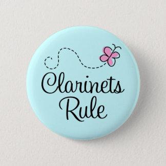 Badge Rond 5 Cm Joli cadeau de musique de règle de clarinettes