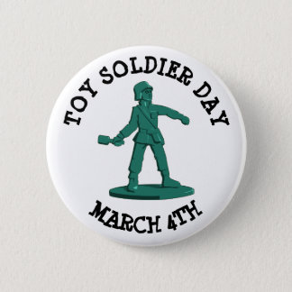 Badge Rond 5 Cm Jouet soldat jour bouton drôle de vacances du 4