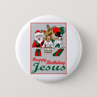 Badge Rond 5 Cm Joyeux anniversaire Jésus
