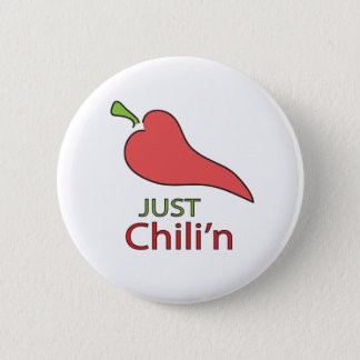 Badge Rond 5 Cm Juste bouton de Chili'n
