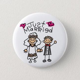 Badge Rond 5 Cm Juste cadeaux mariés de lune de miel de cadeaux de