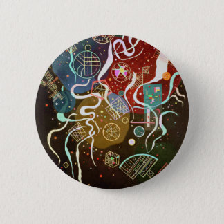 Badge Rond 5 Cm Kandinsky - mouvement I - art russe abstrait