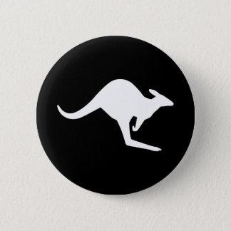 Badge Rond 5 Cm Kangourou de précaution