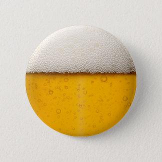 Badge Rond 5 Cm La bière bouillonne plan rapproché
