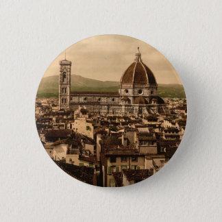 Badge Rond 5 Cm La cathédrale, vue panoramique de palais de