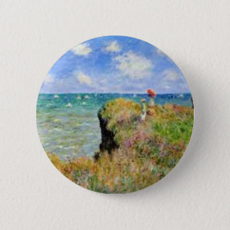 Badge Rond 5 Cm La falaise de Pourville de Claude Monet