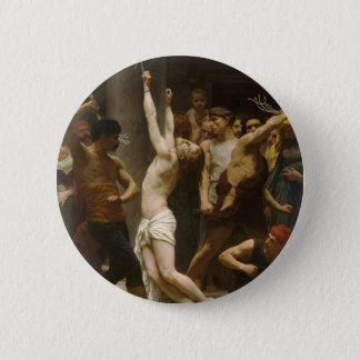 Badge Rond 5 Cm La flagellation de notre seigneur Jésus-Christ