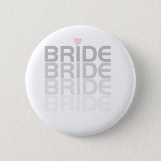 Badge Rond 5 Cm La jeune mariée grise se fanent