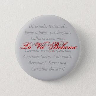Badge Rond 5 Cm La La luttent Boheme