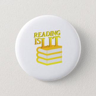 Badge Rond 5 Cm La lecture est cadeau drôle d'instruction de Lit