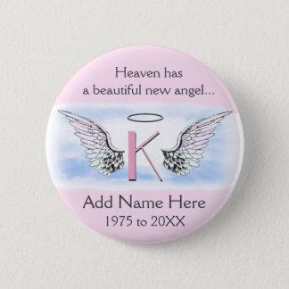 Badge Rond 5 Cm La lettre K | du monogramme | ajoutent le mémorial