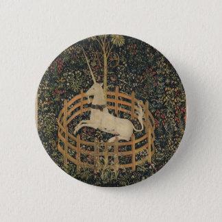 Badge Rond 5 Cm La licorne en captivité