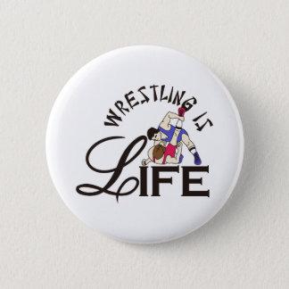 Badge Rond 5 Cm La lutte est la vie