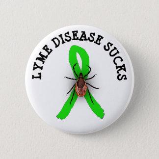 Badge Rond 5 Cm La maladie de Lyme suce le bouton de ruban de
