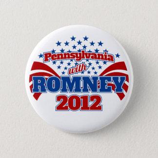 Badge Rond 5 Cm La Pennsylvanie avec Romney 2012