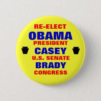 Badge Rond 5 Cm La Pennsylvanie pour Obama Casey Brady