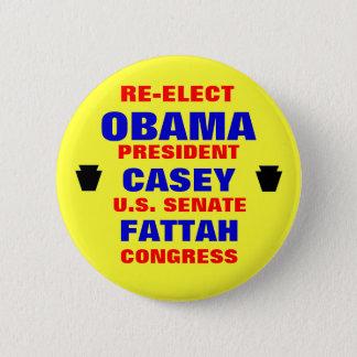 Badge Rond 5 Cm La Pennsylvanie pour Obama Casey Fattah