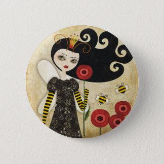 Badge Rond 5 Cm La Reine Béatrix