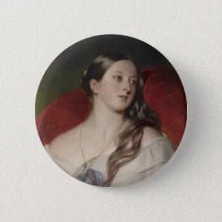 Badge Rond 5 Cm La Reine Victoria