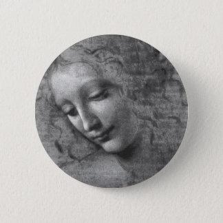 Badge Rond 5 Cm La Scapigliata par Leonardo da Vinci