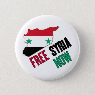 Badge Rond 5 Cm La Syrie libre maintenant