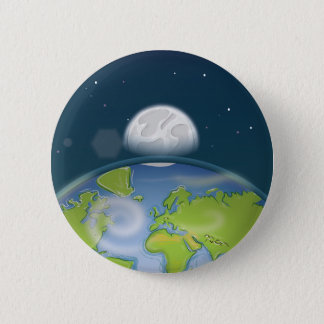 Badge Rond 5 Cm La terre de planète