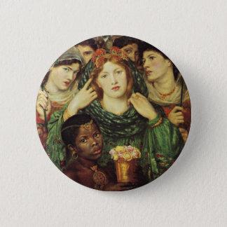 Badge Rond 5 Cm L'aimé par Raphael Rossetti de Dante