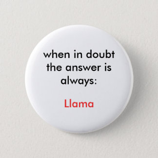 Badge Rond 5 Cm Lama !