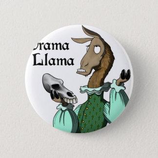 Badge Rond 5 Cm Lama de drame
